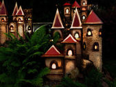 Castle in the night — Stock Photo
