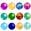 new year balls — Stock Vector