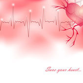 Save your heart — Stock Vector