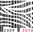 New Year bar code - Stok Vektr
