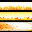 Hot banners — Stock Vector