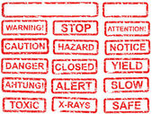 Warning sign set — Stock Vector
