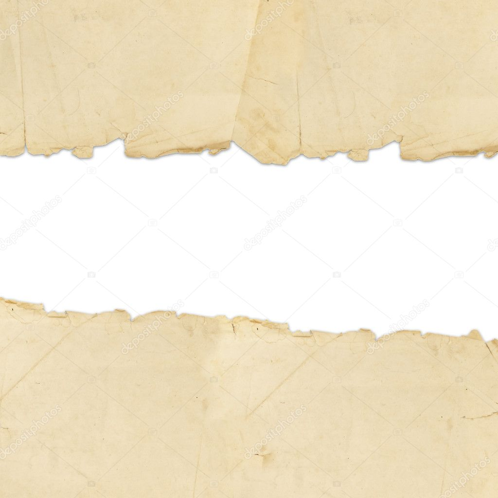 Vintage torn paper with copyspace for your text — Stok fotoğraf #3783422