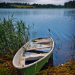 Boat at the lake - Stock Photo