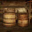 Stock Photo: Wooden vats