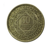 Coin. Fifty francs.Morocco. Avers — Stock Photo