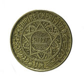 Coin. Fifty francs.Morocco. Revers — Stock Photo