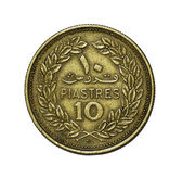 Coin. Ten piastres. Liban. Avers — Stock Photo