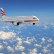 Airplane in the sky - Passenger Airliner — Stock Photo #3196039