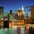 Стоковое фото: Big Apple after sunset - new york manhat