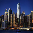 图库照片: Big Apple after sunset - new york manhat