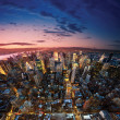 Big Apple after sunset - new york manhat - Stock fotografie
