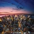 duże jabłko po zachodzie słońca - Nowy Jork się — Zdjęcie stockowe