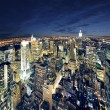 Big Apple after sunset - new york manhat — Stok fotoğraf