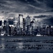 Big Apple after sunset - new york manhat — Stock Photo #3196358