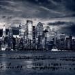 Big Apple after sunset - new york manhat — Stock Photo