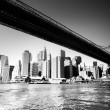 ponte di Brooklyn - new york city — Foto Stock
