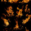 Isolated flames - set - Foto Stock