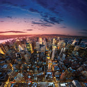 Big Apple after sunset - new york manhat — Foto de Stock
