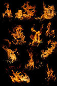 Isolated flames - set — Fotografia Stock