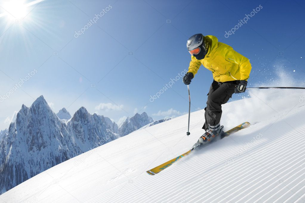Ski photo from europe - alps — Stok fotoğraf #3195988