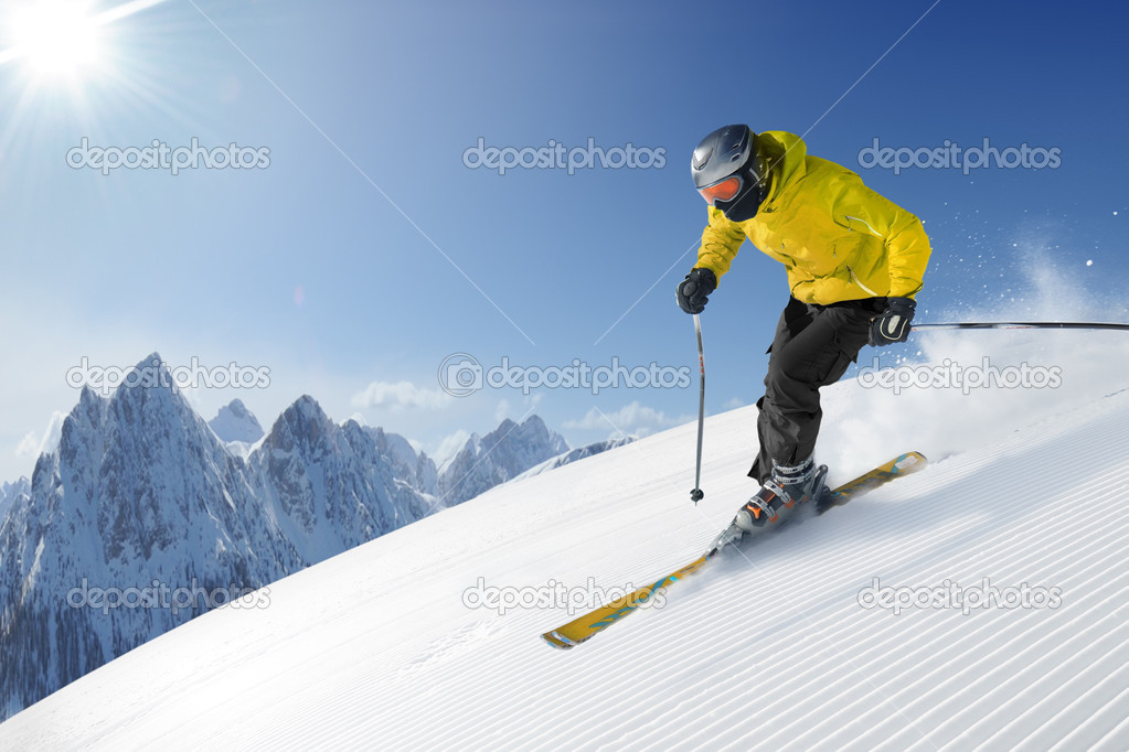 Ski photo from europe - alps — Zdjęcie stockowe #3195988