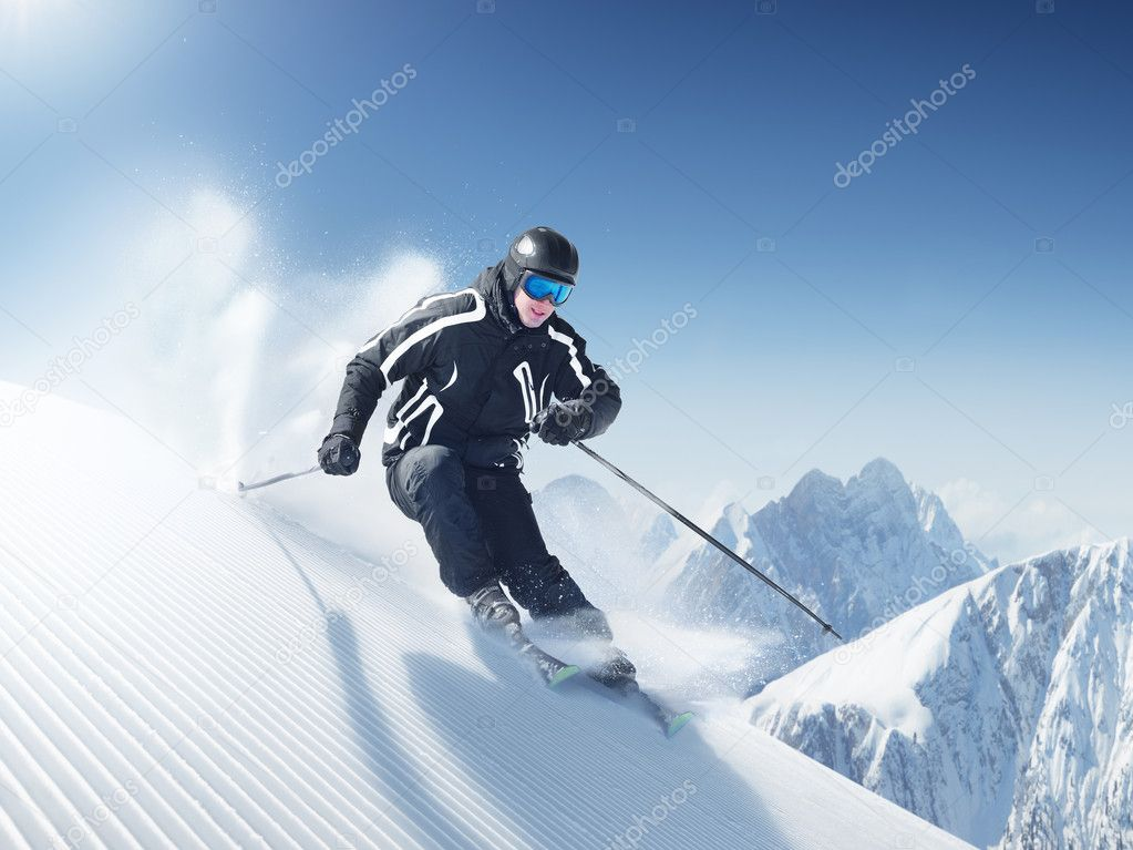 Ski photo from europe - alps — Stock Photo #3196410
