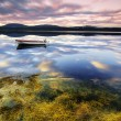 Beautiful norway lake  fishing - Stock Photo