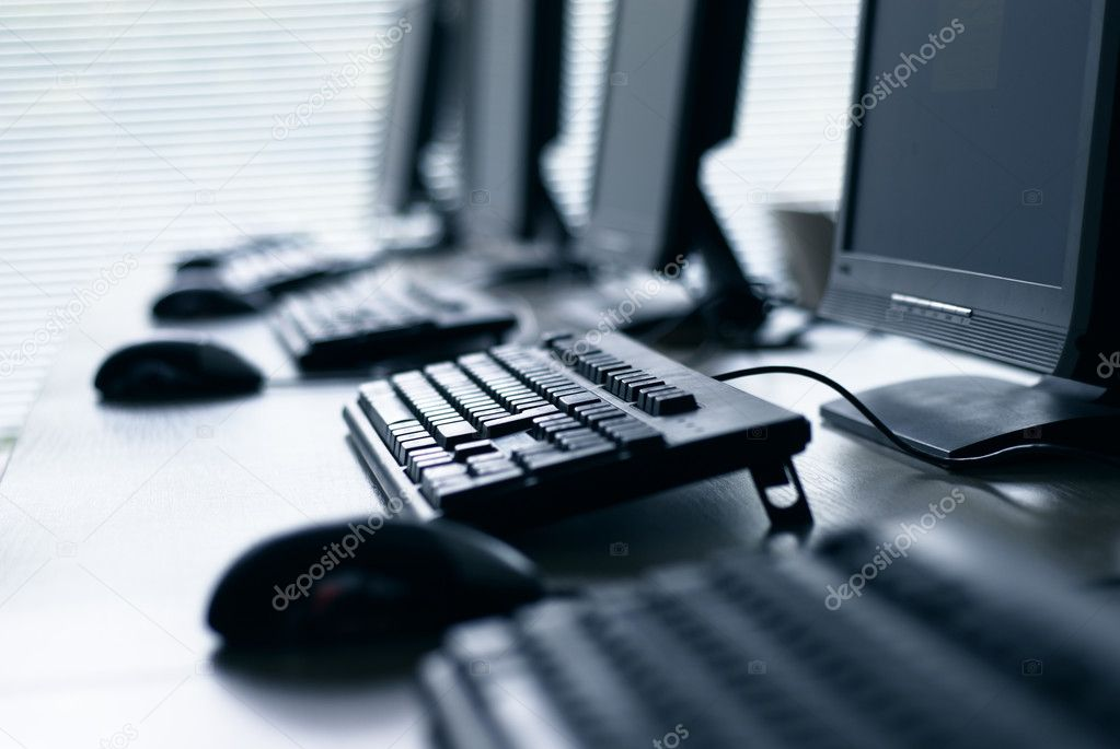 Computer Laboratory - business / office  — Stock Photo #3201053