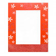 Stock Photo: Red photo frame