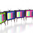 Colorful retro tv's — Stock Photo