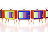 Orange retro tv's — Foto Stock