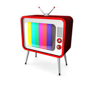Red TV — Stock Photo