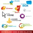 collection of 3d web icons — Stock Vector