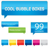 Colorful bubble boxes collection — Vettoriale Stock