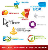 Collection of 3d web icons — Cтоковый вектор