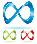 Set of infinity signs — Stock Vector