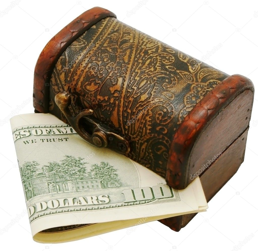 Money and box — Stock Photo #2986788