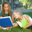 Little girls in the park — Stock Photo