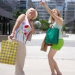 Women with shopping bags — Stock Photo #2721440