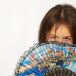 Girl with a fan — Stock Photo #2723607