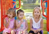 Three little girlfriend — Stock Photo