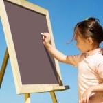 Drawing on blackboard — Stock Photo