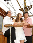 On the sailboat — Stock Photo