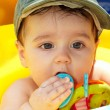 Small child in a cap — Stock Photo