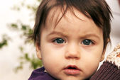 Little girl face — Stock Photo