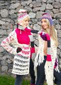 Two cheerful girls — Stock Photo