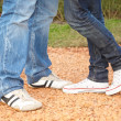 Stock Photo: Couples feet