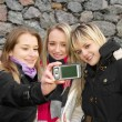 Girls Taking Picture - Stock Photo