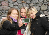 Girls Taking Picture — Stock Photo